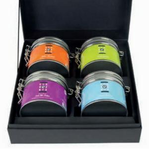 Gaveæske med fire forskellige slags te
