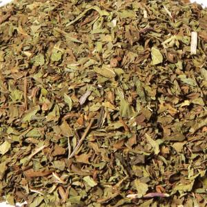 Grøn mynte med en stærk og skarp smag